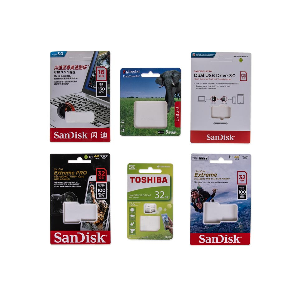 Custom Printed Paper Cards For SanDisk & Kingston