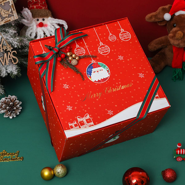 Custom Cardboard Decorative Christmas Gift Paper Pakaging Box